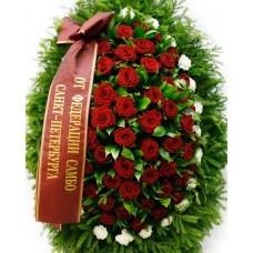 Венок из живых цветов №3228