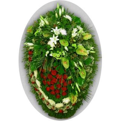 Венок из живых цветов №3029