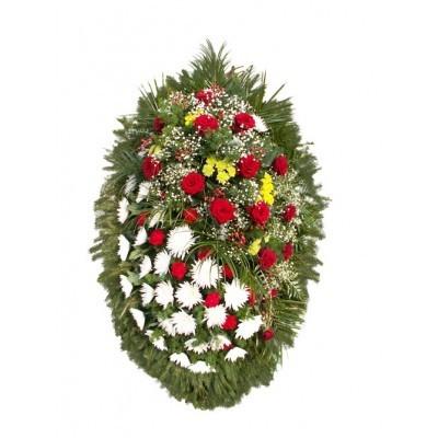 Венок из живых цветов №3130