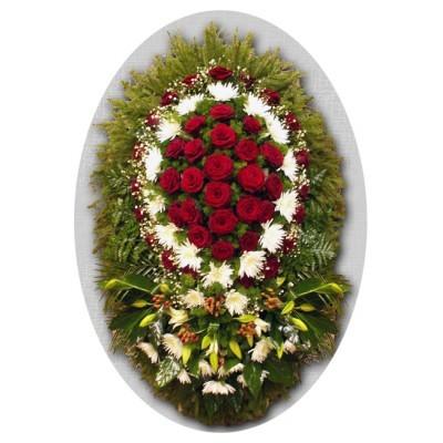 Венок из живых цветов №3133